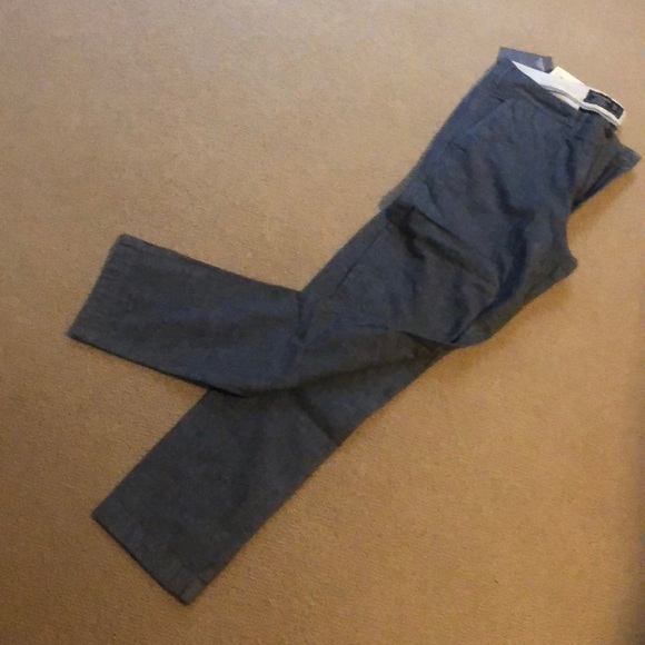 Abercrombie & Fitch Other - Slim straight chambray khakis